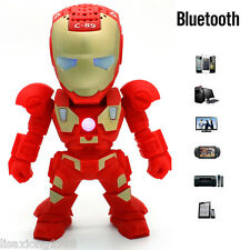 Red Robot Wireless Bluetooth Speaker Portable Subwofer Soundbox Loundspeaker New