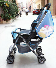 Universal Blue Mesh Pram Stroller Hanging Bag Nappy Pushchair Buggy Changing