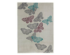 LARGE SIZED BUTTERFLY DESIGN RUG, 120cmX170cm - SUITABLE FOR SURFACE SHAMPOO NEW