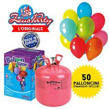 BOMBOLA GAS ELIO Gonfiaggio 50 Pallocnini + 50 PALLONCINI PARTY FESTA