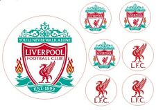 LIVERPOOL 16cm cake topper with 6 5cm cupcake toppers ICING printed edible ink