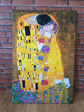 GUSTAV KLIMT THE KISS LARGE 30x20 Inch FRAMED CANVAS MODERN WALL ART PICTURE