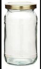 10 Round 1lb / 454ml Glass Preserve Jam Jars & Lid