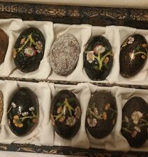 Vtg Asian CHINESE CLOISONNE  BEADS in BOX