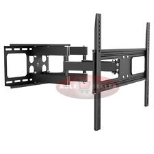 DUAL ARM ARTICULATING LCD LED PLASMA TV WALL MOUNT BRACKET 42 46 50 55 60 65 70
