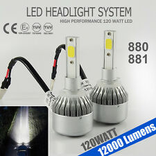 High Power 120W 12000LM Headlight 880/881 LED Bulb White6000K Beam Car Light Kit