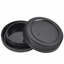 Rear + Body Lens Cap Cover For Olympus OM 4/3 M4/3 Camera Body & Lens