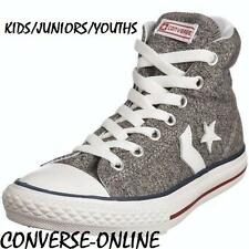 KIDS Boy Girl CONVERSE All STAR PLAYER EV HI TOP Grey Trainers Boot 33 UK SIZE 1