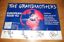 THE GRANDMOTHERS signed Autogramme BUNK GARDNER  CARL BLACK InPerson FRANK ZAPPA