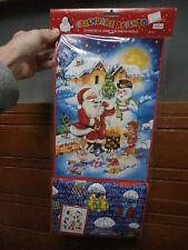 CALENDARIO AVVENTO, NOEL, CHRISTMAS NATALE 51 x 24 cm pupazzo di neve e Babbo