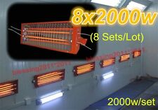 8sets x 2KW Spray/Baking booth Infrared Paint Curing Lamp Heating Light Heater