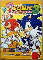 Sonic Advance 3 Official Nintendo Promotional Poster, Very Rare & Brand New