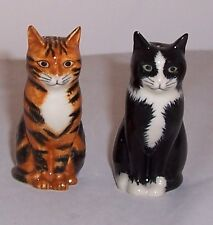 QUAIL Reuben & Sparky Salt & Pepper Cat Cruet Set