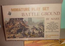 Marx Miniature PlaySet  1960's  Battlefront with box