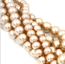 sale 4 / 6  / 8 / 10 mm  Glass Pearl Round Spacer Artificial Loose Beads