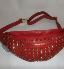 Studded Bumbag Bum Bag Deep Red. Festival Holiday Fanny  Pack BNWT Faux Leather