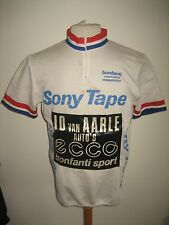 Jo van Aarle RIDER WORN Holland Sony tapes vintage jersey shirt cycling size L