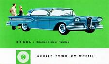 Old Print 1958 Edsel Citation Four-Door Hardtop 'NEWEST THING ON WHEELS' Auto Ad
