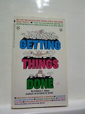 Getting Things Done by Edwin C. Bliss (1984, Paperback)