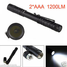 Hugsey XP-2 2*AAA CREE XPE-R3 LED 250LM Lamp Clip Mini Penlight Flashlight E