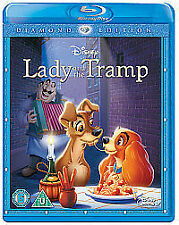 LADY AND THE TRAMP DISNEY BLU RAY - DIAMOND EDITION NEW SEALED UK RELEASE GOLD N