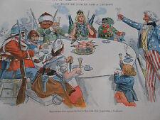 Caricature 1896 Le Toast de l'Oncle Sam à l'Europe