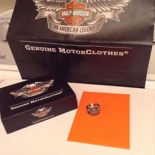 HARLEY DAVIDSON THIERRY MARTINO COLLECTION SILVER SKULL RING GUNS + WINGS  sz 9