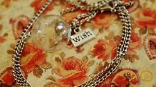 Dandelion Wish Necklace Silver Glass Pendant With Real Dandelion Wishing Seed