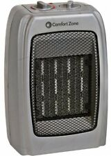 Comfort Zone Ceramic Space Heater Portable Adjustable Thermostat Room 1500W NEW