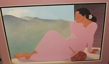 PEGGE HOPPER LARGE COLOR WOMAN WITH FAN POSTER
