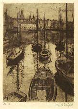 Danimarca-Aarhus Porto-Kurt Preissler-ACQUAFORTE 1920