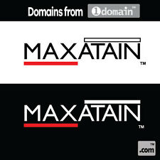 Maxatain.com & Logo - Premium Domain from 1domain