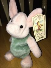 Classic Winnie The Pooh Piglet Stuffed Bean Bag With Tag EUC By Gund