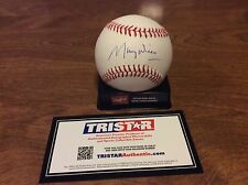 MLB AUTOGRAPHED MAURY WILLS BASEBALL WITH TRISTAR AUTHENTICATION!!!