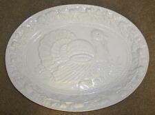 THANKSGIVING HOLIDAY ~ WHITE PORCELAIN or CERAMIC TURKEY PLATTER ~ A CLASSIC!