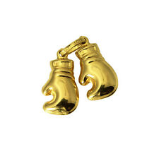 14K Yellow Gold Double Boxing Glove Charm Pendant