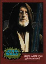 1999 Topps Star Wars Chrome Archives #21 Ben With The Lightsaber!  Alec Guinness