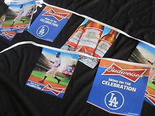 Budweiser LA Dodgers flag String banner Baseball beer bar sign Dodger Bud T=28