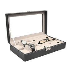 PU Leather 10 Slots Wrist Watch Display Box Storage Holder Organizer Case YKYK
