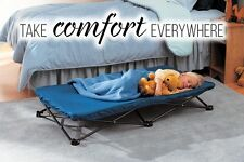 Portable Toddler Bed Outdoor Hiking Camping Folding Sleeping Cot Camp Bag Blue