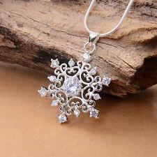 1 stk Frauen Schöne Cubic Snowflake Schnee Halskette Kette Collier Strass Gem
