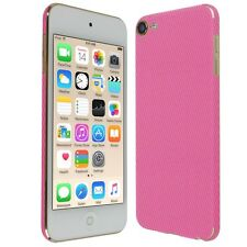 Skinomi Pink Carbon Fiber Skin+Screen Protector For Apple iPod Touch 6 (6th Gen)