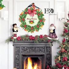 Christmas Wreath Removable Wall Stickers Decal Art Vinyl Window Room Mural Decor