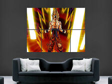 GOKU SAIYAN DRAGON BALL Z JAPANESE MANGA  WALL POSTER ART PICTURE PRINT LARGE