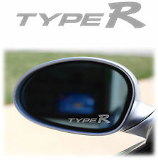 HONDA TYPE R WING MIRROR - ETCHED GLASS CAR VINYL DECALS-STICKERS civic accord