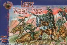 DARK ALLIANCE - LIGHT WARG ORCS. 1/72 SCALE UNPAINTED PLASTIC FANTASY FIGURES
