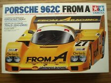 "Tamiya Vintage 1:24 Scale Porsche 962C ""From A""  Model Kit - New - Okada/Dickens"