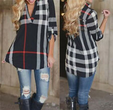 Fashion Women's Lady Loose Long Sleeve Casual Blouse Shirt Tops Blouse New