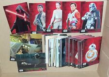 Star Wars The Force Awakens Series 1 GREEN Parallel Complete 100 Card Set