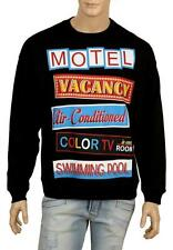 NEW MOSCHINO COUTURE BLACK COTTON SIGN PRINT CURRENT SWEATSHIRT SWEATER 48/S